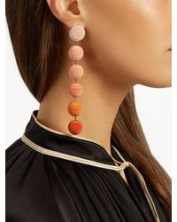 Rebecca de Ravenel - Orange Corded-silk Drop Earrings - Lyst
