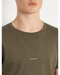 Title Of Work - Metallic Silver-sterling Id-bar Necklace for Men - Lyst