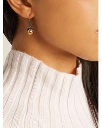Bottega Veneta - Metallic Intrecciato-engraved Earrings - Lyst