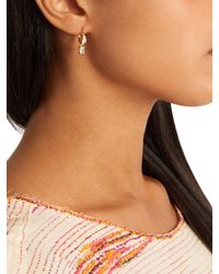 Theodora Warre | Metallic Zircon And Gold-plated Earrings | Lyst