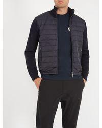 Moncler - Blue Cardigans High-neck Down Jacket for Men - Lyst