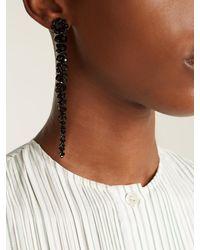Simone Rocha - Black Crystal-flower Drop Earrings - Lyst