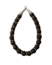 Bottega Veneta   Black Onyx And Cubic-zirconia Necklace   Lyst