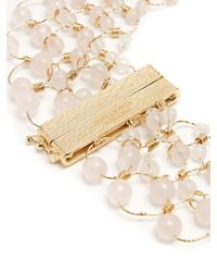 Rosantica By Michela Panero - Pink Universo Bead-embellished Necklace - Lyst