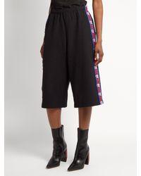 Vetements - Black X Champion Long Cotton-blend Shorts - Lyst