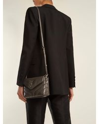 Saint Laurent Gray Loulou Toy Quilted Leather Cross Body Bag