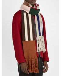 Lanvin - Multicolor Wool Blend Scarf for Men - Lyst