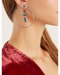 Jacquie Aiche - Blue Opal & Rose-gold Earrings - Lyst