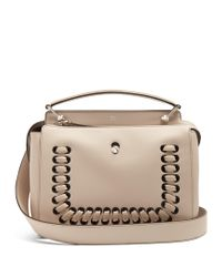 Fendi | Pink Dotcom Whipstitched Leather Bag | Lyst