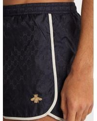 Gucci - Blue Gg-jacquard Swim Shorts for Men - Lyst