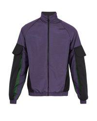 Cottweiler - Purple Contrast-panel Track Jacket for Men - Lyst