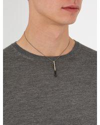Saint Laurent - Black Matchstick Necklace for Men - Lyst