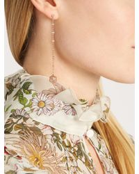 Jacquie Aiche - Metallic Diamond, Quartz & Rose-gold Earring - Lyst