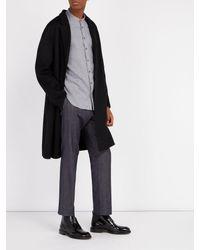 Thom Sweeney - Gray Nehru Collarless Woven-cotton Shirt for Men - Lyst