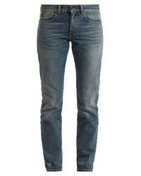 Saint Laurent - Blue Low-rise Straight-leg Boyfriend Jeans - Lyst