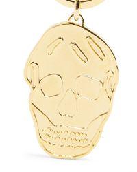 Alexander McQueen - Metallic Skull Key Ring - Lyst