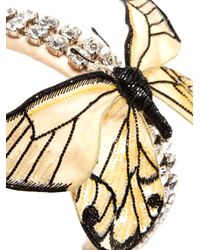 Dolce & Gabbana | Metallic Crystal-embellished Butterfly Satin Headband | Lyst