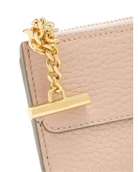 Chloé - Pink Drew Leather Coin Purse And Cardholder - Lyst