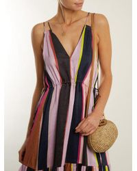 Apiece Apart - Multicolor Daphne Striped Linen And Silk-blend Dress - Lyst