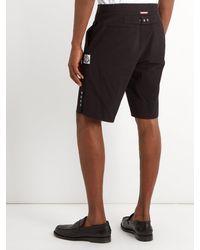 Moncler Gamme Bleu - Black Short ajusté en crépon de coton for Men - Lyst