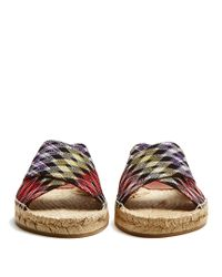 Missoni - Multicolor Zigzag Knitted Slides - Lyst