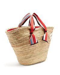 Miu Miu - Multicolor Logo-embroidered Basket Bag - Lyst