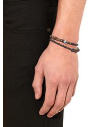 Luis Morais - Brown Diamond, Pyrite And White-gold Bracelet for Men - Lyst