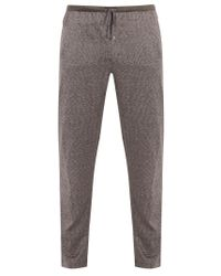 Zimmerli   Gray Jacquard Cotton And Silk-blend Jersey Trousers for Men   Lyst