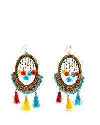 Rosantica By Michela Panero - Orange Merida Bead And Tassel Earrings - Lyst