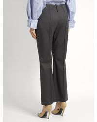 Balenciaga - Multicolor Kick-flare Stretch-wool Trousers - Lyst