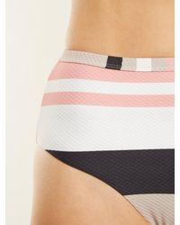 Asceno - Multicolor High-rise Striped Bikini Briefs - Lyst