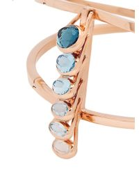 Marie Mas - Amethyst, Topaz & Pink-gold Bangle - Lyst