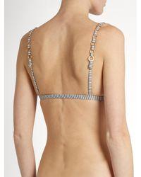 Made By Dawn - Blue Linx Bikini Top - Lyst