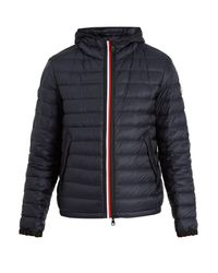 Moncler - Blue Morvan Quilted-down Hooded Jacket for Men - Lyst