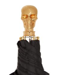 Alexander McQueen - Black Skull Foldable Umbrella - Lyst