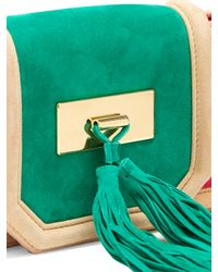 Balmain - Multicolor Killari Tassel-embellished Suede Clutch - Lyst