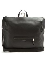 Smythson - Black Greenwich Woven-leather Weekend Bag for Men - Lyst