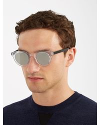 Dior Homme - Metallic Blacktie 218s Round-frame Sunglasses for Men - Lyst