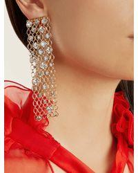 Lanvin - Metallic Crystal-embellished Chain Clip-on Earrings - Lyst