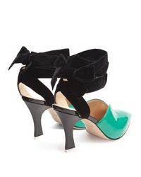 Attico - Multicolor Olivia Patent-leather And Velvet Pumps - Lyst