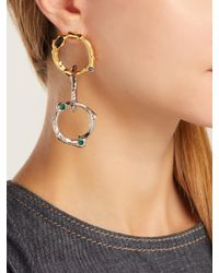 Marni - Metallic Crystal-embellished Chain-link Earrings - Lyst