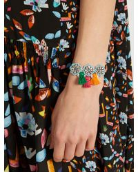 Shourouk - Blue Hippie Flower Bracelet - Lyst
