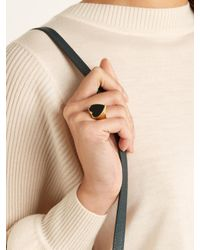 Chloé | Black Stone-embellished Heart Signet Ring | Lyst