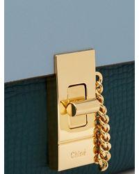 Chloé - Green Drew Bi-colour Leather Wallet - Lyst