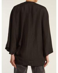 Raey - Black Grosgrain Kimono Jacket - Lyst