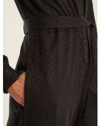 A.P.C. - Black Antoinette Geometric-jacquard Jumpsuit - Lyst