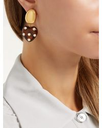 Lizzie Fortunato - Metallic Amore Polka-dot Heart-shaped Earrings - Lyst