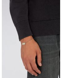 Saint Laurent - Metallic Razor-blade Bracelet for Men - Lyst