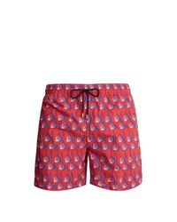 Le Sirenuse - Red Short de bain à imprimé escargots for Men - Lyst