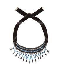 Etro - Blue Crystal And Bead-embellished Necklace - Lyst